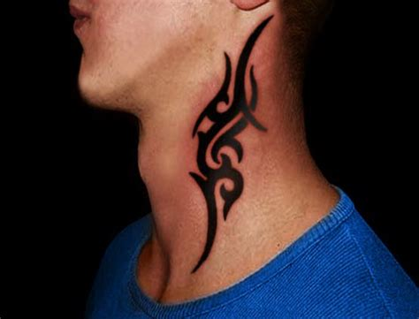 neck tattoos for men designs small neck mens photo amazing