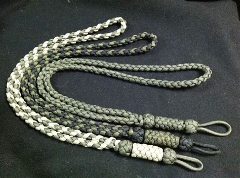 How to Make: Tan/OD, Black/OD and solid OD Skogkniv Adirondack Woodsman paracord lanyards
