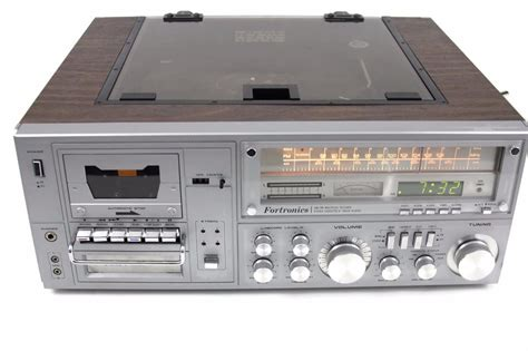 stereo 8 cassette fortronics icm 150 am fm multiplex receiver stereo