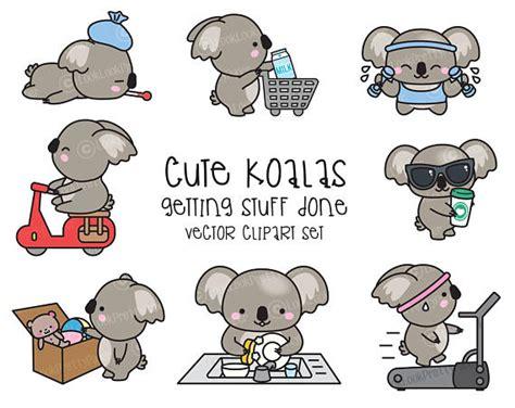 imagenes kawaii de koalas premium vector clipart kawaii koala cute koala planning