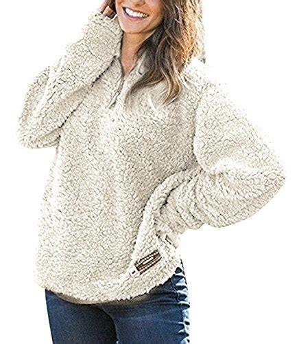 Sweater Fleece Abu Fleece Abu Rnz 179 jjyee s fleece pullover fashion sweater solid color zippered apricot l buy in uae