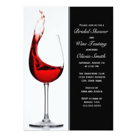 wine bridal shower invitations wine glass bridal shower invitation card