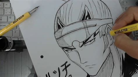 Drawing G Pen by Tutorial How To Draw Abarai Renji From