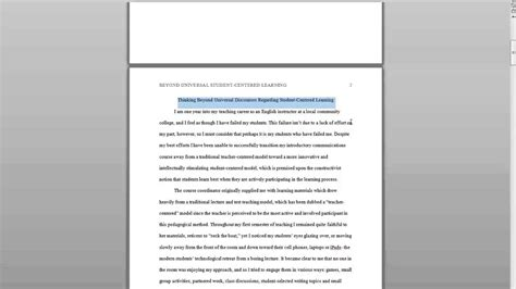 Apa Format For Essays by Overall Apa Formatting For Basic Essays
