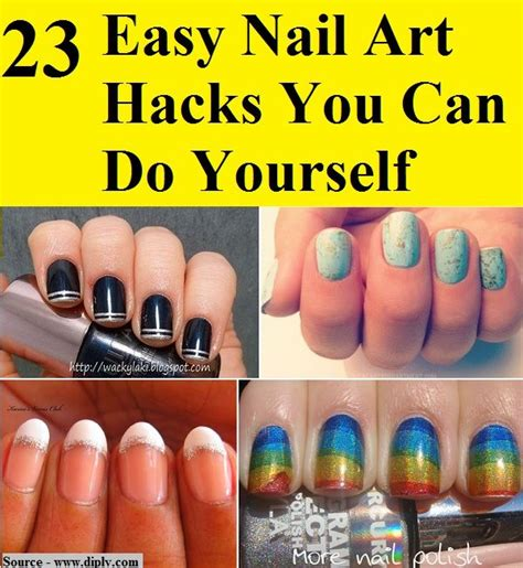 easy nail art designs you can do yourself 23 easy nail art hacks you can do yourself fashion