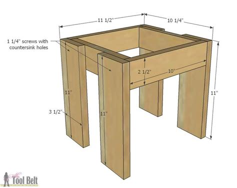 how to build a simple table plans build an easy table and chair set for the the