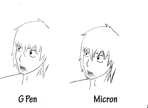 Drawing G Pen by G Pen Vs Micron By Pskibobby On Deviantart