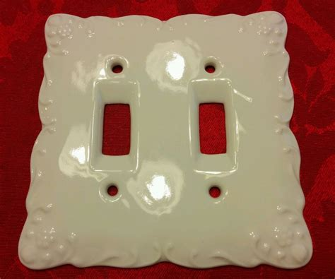 ceramic light switch cover plates white porcelain toggle light switchplate ceramic wall