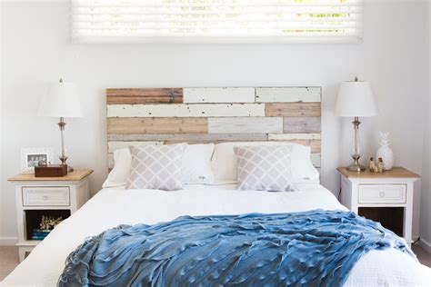 Bright king size bed frame with headboard Decoration ideas for Bedroom Beach Style
