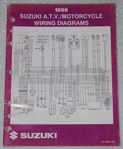 1996 suzuki esteem wiring diagram manual original 1996 suzuki motorcycle atv wiring diagrams manual electrical troubleshooting 96 factory repair