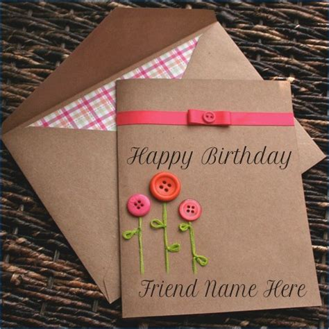 Happy Birthday Card With Name Edit