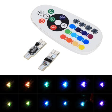 led color changing l 1 pair t10 rgb multi colors changing led l colorful car