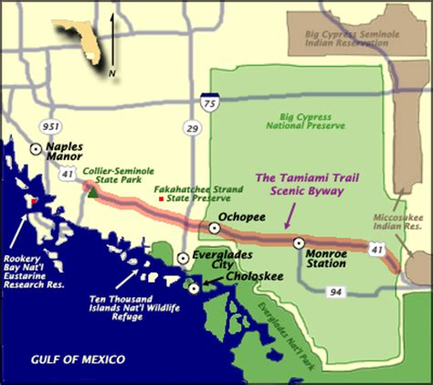 usf ta map south florida things to see and do along scenic tamiami
