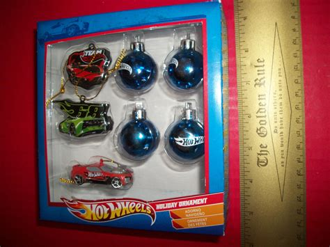 hot wheels starting christmas tree wheels home decor ornament set mattel mini tree decoration cars trains