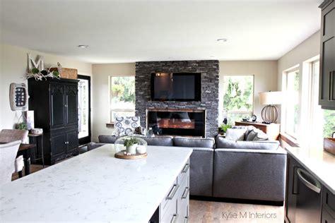 Quartz Ledgestone Fireplace by Great Room With Open Layout Ledgestone Fireplace With Tv