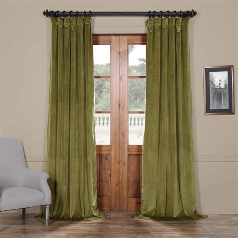 plush velvet curtains green 84 x 50 in plush velvet curtain single panel rose