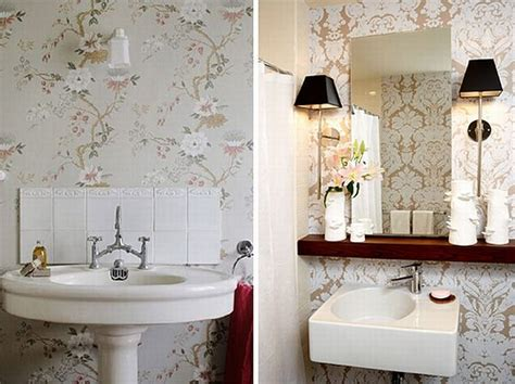 wallpapered bathrooms ideas small bathroom wallpaper ideas dgmagnets