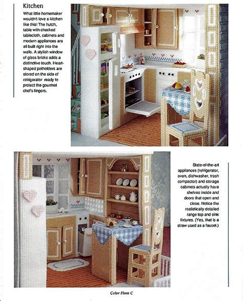 fashion dollhouse in plastic canvas 15 best plastic canvas doll furniture patterns images on
