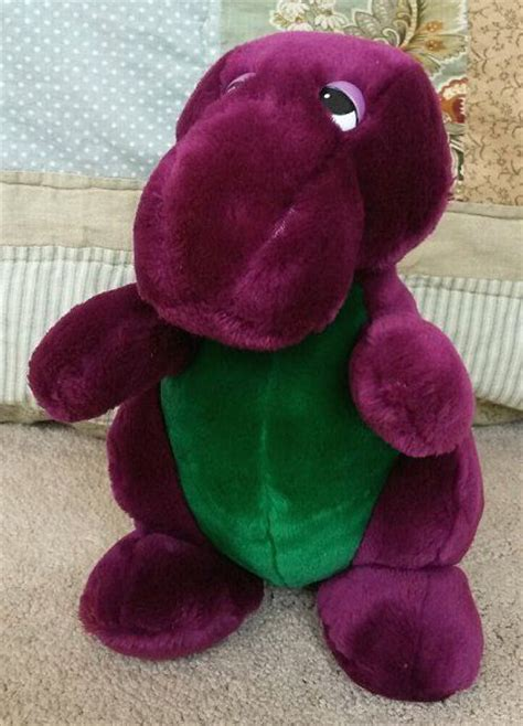 barney and the backyard gang doll first ever barney the backyard gang stuffed plush doll 1990 dakin lyons group toys