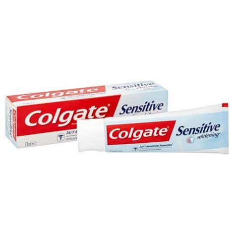 toothpaste whitening buy colgate sensitive whitening toothpaste 75ml