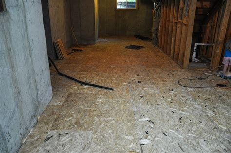 the basement project installing dricore subfloor suburble