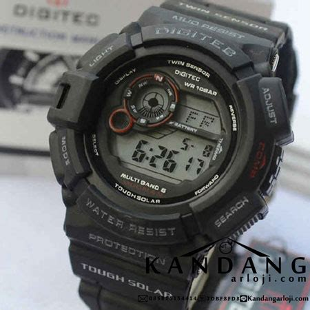 Digitec Dg 2023t Dual Time Series Black Original digitec dg 2028t mudman black jam tangan wanita dan pria murah analog digital dual time
