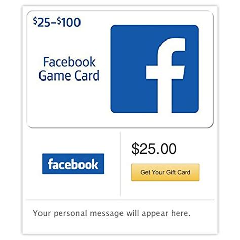 Facebook Gift Card - facebook gift cards e mail delivery
