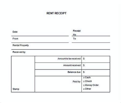 Yearly Rent Receipt Template by Rent Invoice Template