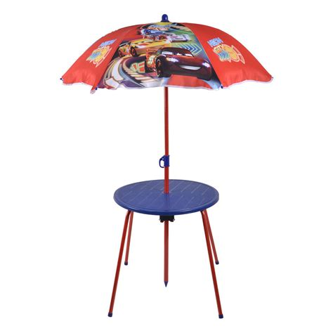 table parasol cars garden furniture set folding chairs table parasol disney