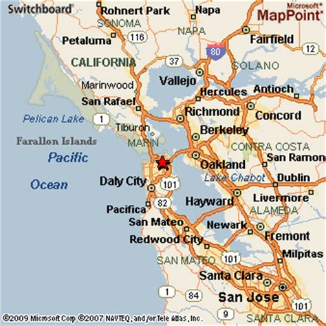 san francisco california map san francisco california