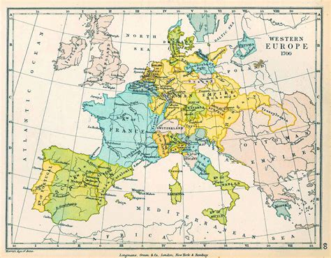 map us during 1700s map of europe in 1700