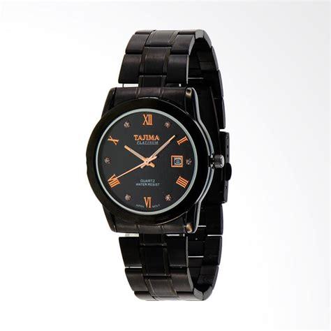 Jam Tangan Pria Ripcul Date On Stainlist Black jual tajima date analog stainless steel jam tangan pria
