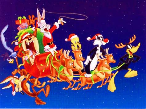 xmas tunes sylvester and company driving santa s sleigh wallpaper