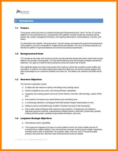 business requirements document template pdf requirement document sle business requirements