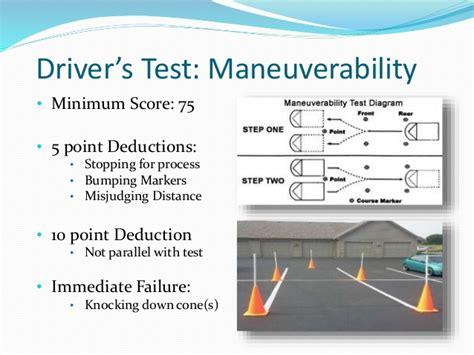 ohio maneuverability test diagram informative powerpoint ohio license