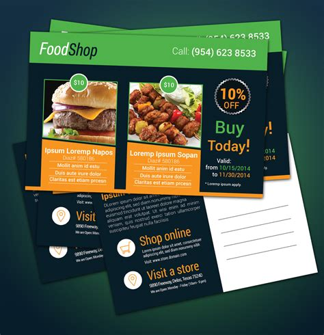 free product promotional postcard template download