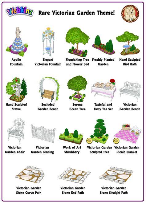theme item list rare theme showcase victorian garden wkn webkinz newz