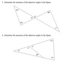 triangle interior angles worksheet pdf and answer key