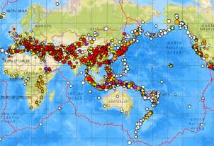 World Earthquake Map by Earthquakes Map World Galleryhip Com The Hippest