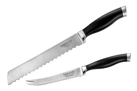 calphalon contemporary serrated knife set 2