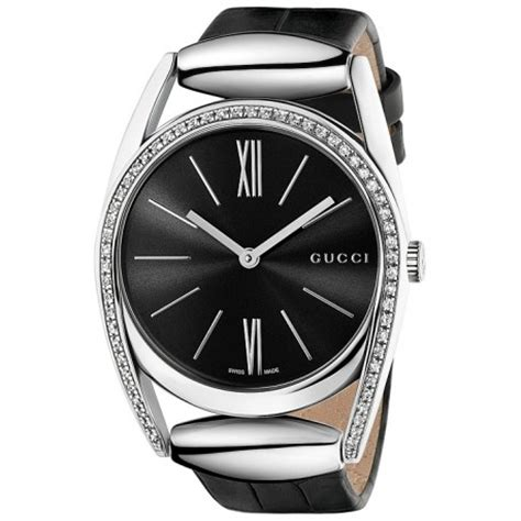 Gucci Gcb465 Diamondleather gucci horsebit black leather womens ya139403
