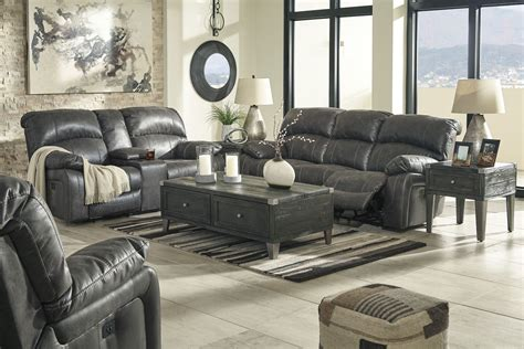 reclining living room furniture sets dunwell steel power reclining living room set from
