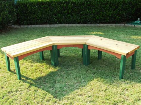 how to build outdoor benches how to build a semi circular wooden bench how tos diy