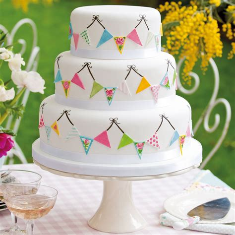 Wedding Cake Bunting by Summer Fete Wedding Cake And Home