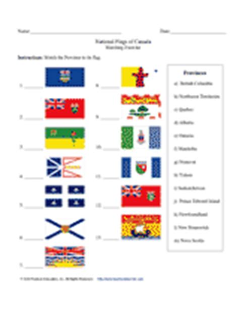 flags of the world exercise national flags of canada matching exercise teachervision