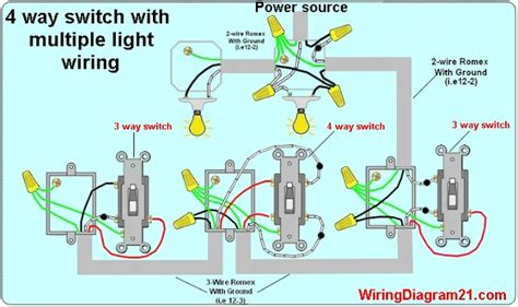 3 way switch wiring lights diagram 3 way switch