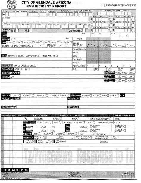 And Ems Run Card Template by 28 Images Of Ems Run Report Template Leseriail
