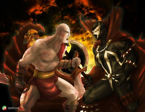 kratos vs spawn by gourmandhast on deviantart