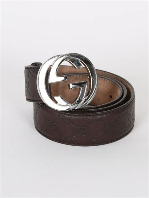gucci interlocking guccissima leather brown belt 95