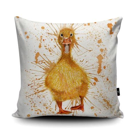 Duck Cushion by Unique Gifts Splatter Duck Cushion Wraptious
